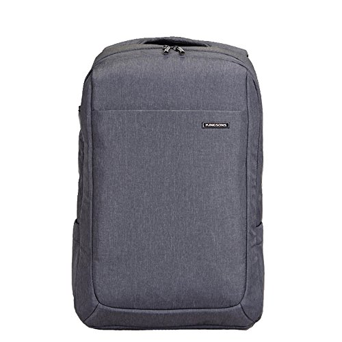 Waterproof up 15 Backpack Bag Suit 4 Kingsons Business with Macbook Air Laptop Port Headphone for Pro inch Gray Fabric Multi 2016 to compartment wC0EgXqxq