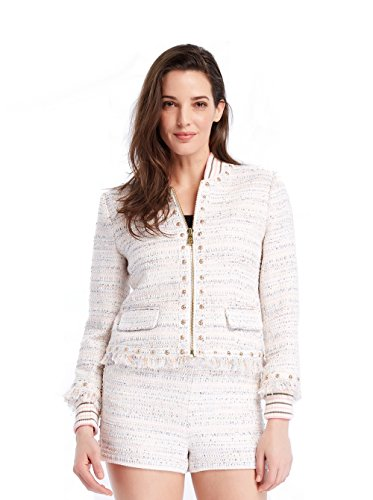 Multi Tweed Jacket (Juicy Couture BLACK LABEL Women's Studded Tweed Woven Jacket, Multi Pastel, 0)