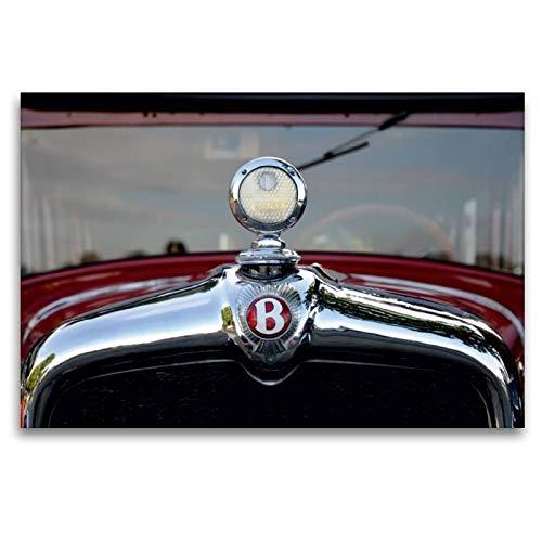CALVENDO Toile Textile de qualité supérieure 120 cm x 80 cm - Refroidisseur Oldtimer - Tableau sur châssis - Impression sur Toile véritable - Bentley Mobilitaet Mobilitaet