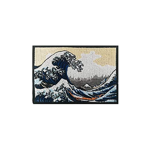 Cute-Patch TM The Great Wave Off Kanagawa Embroidered Iron On Sew On Applique