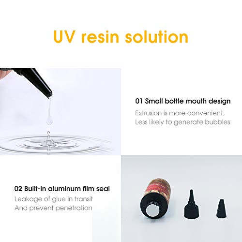 UV Resin Crystal Clear Hard Type LED Lamp Curing Resin DIY Jewelry Making Art 200g