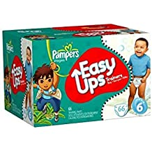 Pampers Easy Ups Trainers for Boys, Size 6, 78 Count