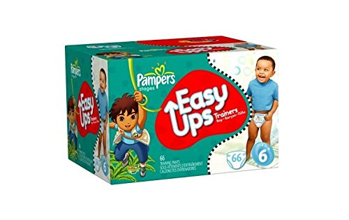 Price comparison product image Pampers Easy Ups Trainers for Boys,  Size 6,  78 Count