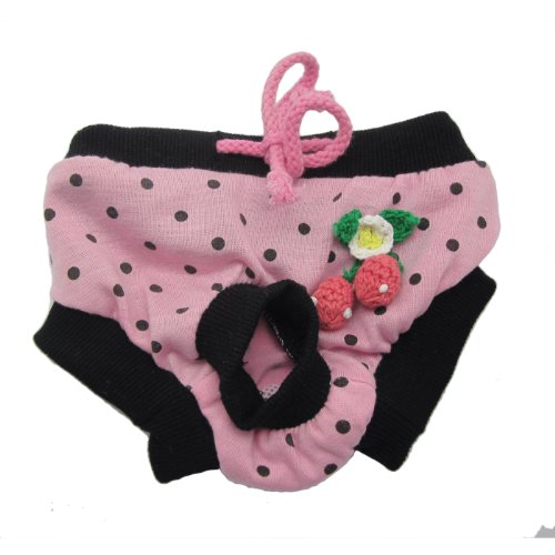 Alfie Pet Apparel - Zoe Diaper Dog Sanitary Pantie - Color: Pink, Size: M (for Girl Dogs)