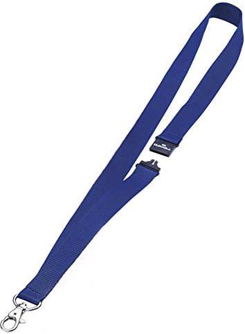 Durable 868207 Textilband mit Sicherheitsverschluss, 1 Stück blau