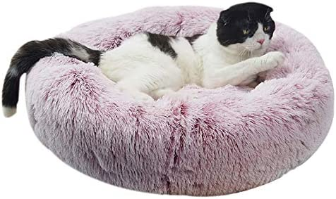 OCSOSO Cat Bed Plush Dog Cat Cushion Soft Cuddler Kennel Soft Puppy Sofa Deep Sleeping Bag with Cozy Sponge Non-Slip Bottom for Small Medium Pets Snooze Sleeping Autumn Indoor, Machine Washable