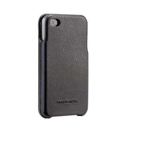 Case-Mate BT-COV-CM014536 Signature Leather Case für Apple iPhone 4/4S schwarz