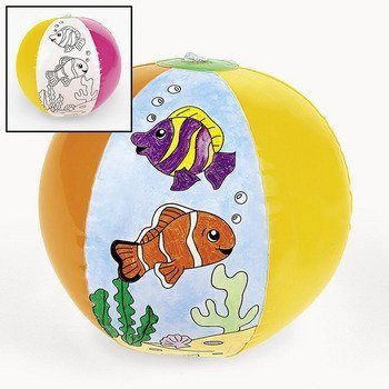 (Color Your Own Fish Beach Balls - Vacation Bible School & Crafts for Kids)