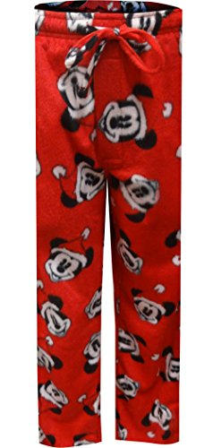 Disney Mickey Mouse Santa Claus Minky Lounge Pants For Men (X-Large) (Mickey Mouse Lounge Pants For Men)