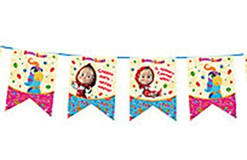 Garland 9,84 ft. Masha and the Bear  Good Idea for a Birthday Party Supplies Flag Decoration for the Holiday Masha y el Oso para niños from Masha and the Bear
