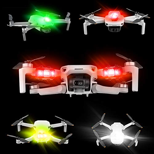 Drone Strobe Lights,FAA Anti-Collision Drone Lighting,Rechargable LED Night Flight Signal Flashing Light,Extension Alarm Indicator Light for Any Drone | DJI FPV,Mini,Mavic Mini,Phantom,Inspire,Matrice