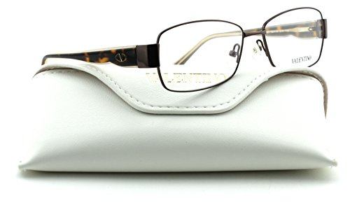 Valentino V2101 Women Rectangular Eyeglasses (Brown Frame 210, - Eyewear Valentino