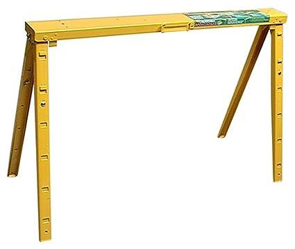 Crawford Adjustable 25 Inch To 34 Inch Tall Folding Steel Sawhorse, Single