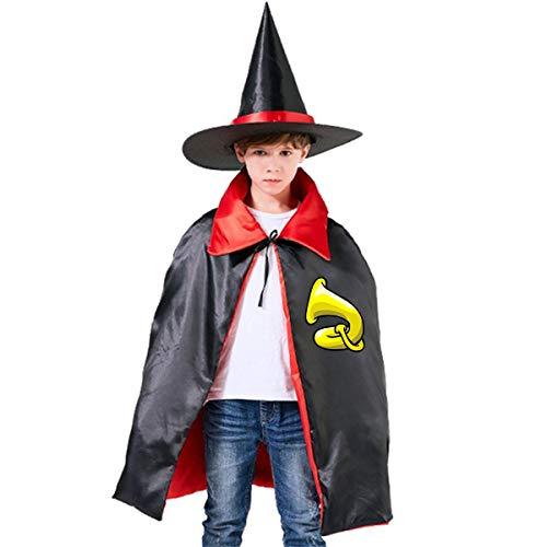 Little Monster Tuba Adult and Toddlers Halloween Costume Wizard Hat Cape Cloak