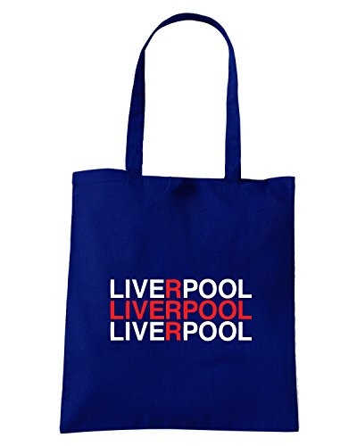 T-Shirtshock - Bolsa para la compra WC0468 LIVERPOOL Azul Marino