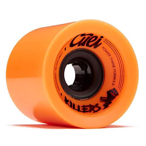 (Cuei Killers Race Longboard Wheels - 74mm 82a - Orange)