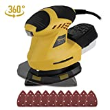 Detail Sander 12000 OPM Ginour, 200W Compact Multi-Sander with 360°...