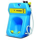 Speakman SE-4300 GravityFlo 20-Gallon Portable Emergency Eye Wash with Drench Hose, High Visibility Blue Plastic