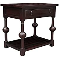 NES Furniture nes10018 28 Fine Handcrafted Furniture Solid Mahogany Wood Gerardo Dressing Table, Medium Brown