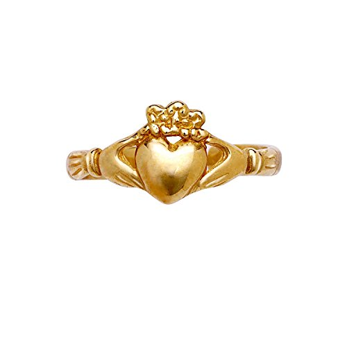 Toe 14k Celtic Ring (JewelryWeb Solid 14k Yellow Gold Adjustable Claddagh Celtic Toe Ring)