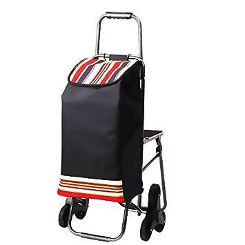 ANDE Chariot de courses multifonction, avec siège pliable