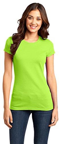 District Women's Short Sleeve Ring Spun Crewneck T-Shirt_Lime Shock_M
