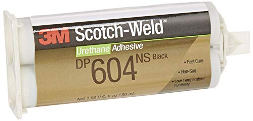 - 3M Scotch-Weld Urethane Adhesive DP604NS Black, 50 mL (Pack of 1)