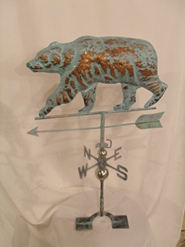 Furniture Barn USA LARGE Handcrafted 3D 3- Dimensional BEAR Weathervane Copper Patina Finish