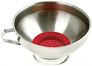 Norpro Wide Mouth Funnel With Silicone Strainer - 241