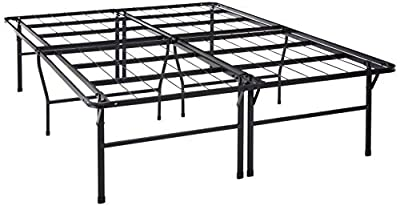 Best Price Mattress Metal Platform Beds w/ Heavy Duty Steel Slat Mattress Foundation (No Box Spring Needed)