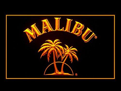 Malibu Rum Sport Game Star Bar Hub Advertising LED Light Sign J592Y