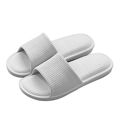 Paangkei Men/Women/Big Kid Comfortable Rubber Slide Sandal/Slipper for Bathroom Shower, Beach, Pool, Outdoor, Indoor, Bedroom, Home/House (EU36-37:Men2-4 & Women5-6 & Big Kid4-5, Grey) | Slippers