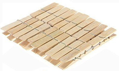Vishesh Shopping Wooden Clips Bamboo Cloth Packing , Standard Size , Mixed Colour -Set of 20
