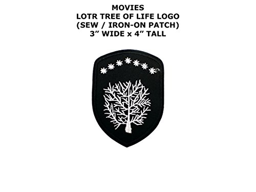 Lord Of The Rings Costumes Diy (Tree of Life Lord of the Rings Movie DIY Embroidered Sew or Iron-on Applique Patch Outlander Gear)