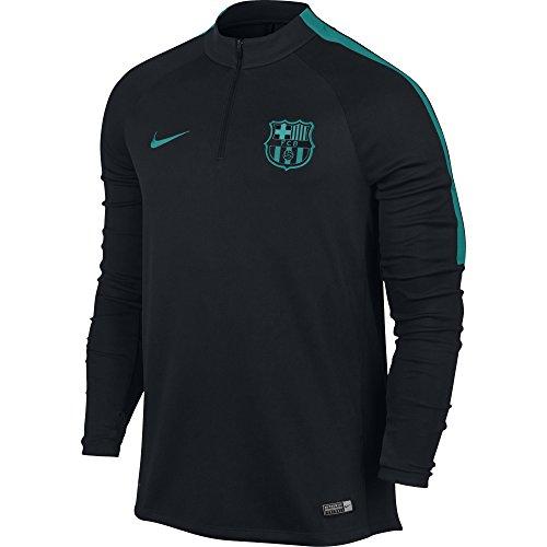 Nike Men's Barcelona Squad Drill Top Soccer 1/4 Zip Jacket (Medium) Black, - Training Jackets Soccer