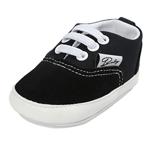 GBSELL Toddler Infant Baby Baby Girl Boys Canvas Casual Soft Sole Shoes Sneakers (Black, 12~18 Month) ()