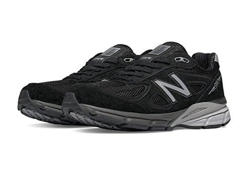 New Balance Women's W990V4 Run Shoe-W, Black/Silver, 8.5 D US