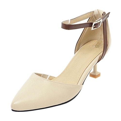 Les Femmes Taoffen Chaussures De Cour De Bride À La Cheville Beige