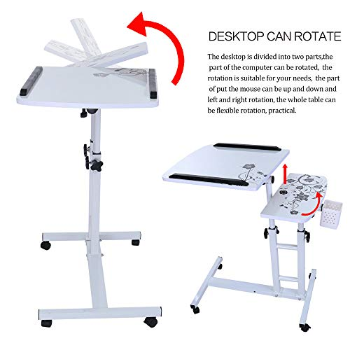 Lucoo Laptop Desk Folding Computer Desk Household Can Be Lifted and Folded 64cm40cm (White) by Lucoo (Image #5)
