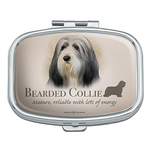 Bearded Collie Dog Breed Rectangle Pill Case Trinket Gift Box ()