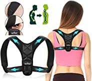 SOMAZ Posture Corrector, Adjustable Upper Back Brace For Clavicle Support and Providing Pain Relief From Neck,