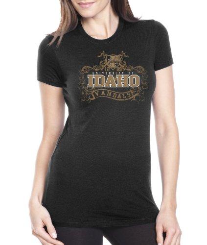Ncaa Idaho Vandals Womens Prius2 Long Body Classic T Shirt  Black  Large