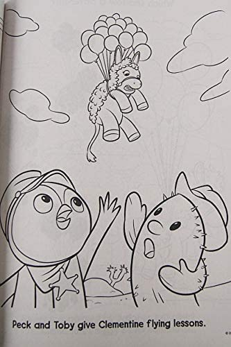 Sheriff Callie, Peck and Toby | Coloring pages, Disney junior ... | 500x333