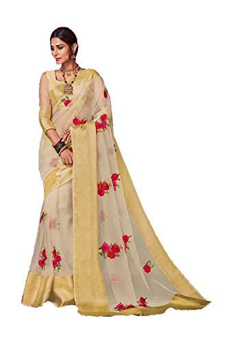 Traditional Sarees Indian Wear 5 for Party White Off Sari Wedding Women Da Designer Facioun AqwE5xz