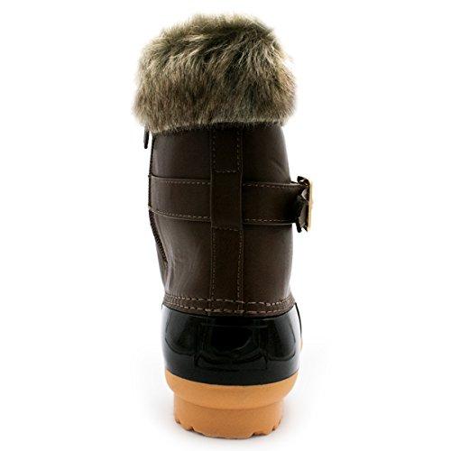 Premier Standard Frauen Sticken Lace Up Side Zip wasserdichte isolierte Schneeschuhe Premierminister Brown