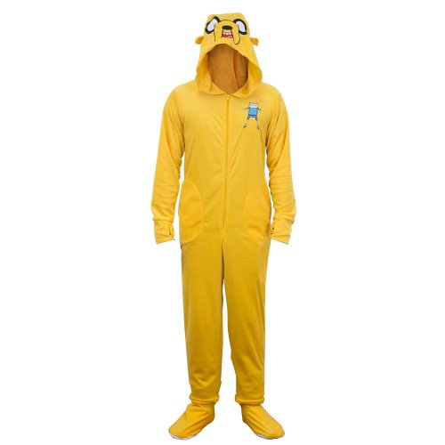 Animewild Adventure Time Jake the Dog Adult Orange Hooded Footie One Piece Costume Pajama (Adult XX-Large) for $<!--$54.99-->