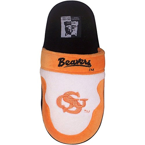 Fuzzy Beaver (OSU02-3 - Oregon State Beavers - Large - Happy Feet Mens and Womens - NCAA Low Pro Slippers)