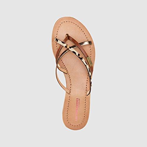 Sconosciuto - Sandalias de vestir de Piel para mujer multicolor Tan / Leopard 36