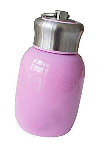Unicoco - Mini botella isotérmica de acero inoxidable de 250 ml, botella termo de viaje isotérmica, acero inoxidable, Rosa, rosa