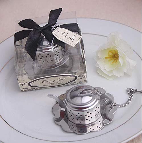 Stainless Steel Teapot Tea Infuser Tea Strainer Filters For Wedding Favor (24) by cute rabbit